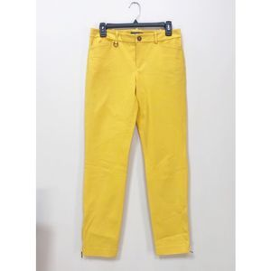 Lauren Ralph Lauren Yellow Straight Pants 4